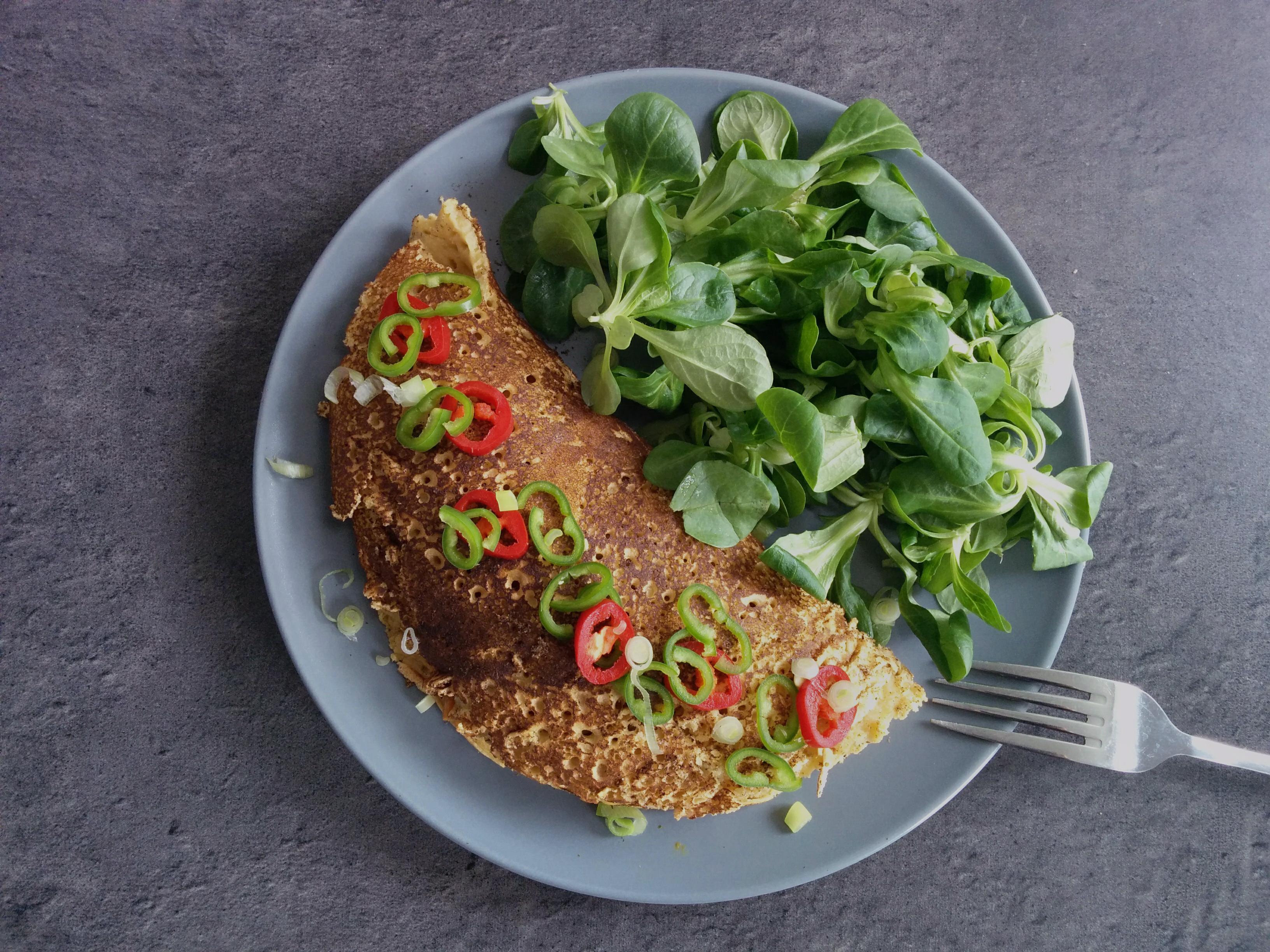 omelette vegetarienne garnie saveur des iles