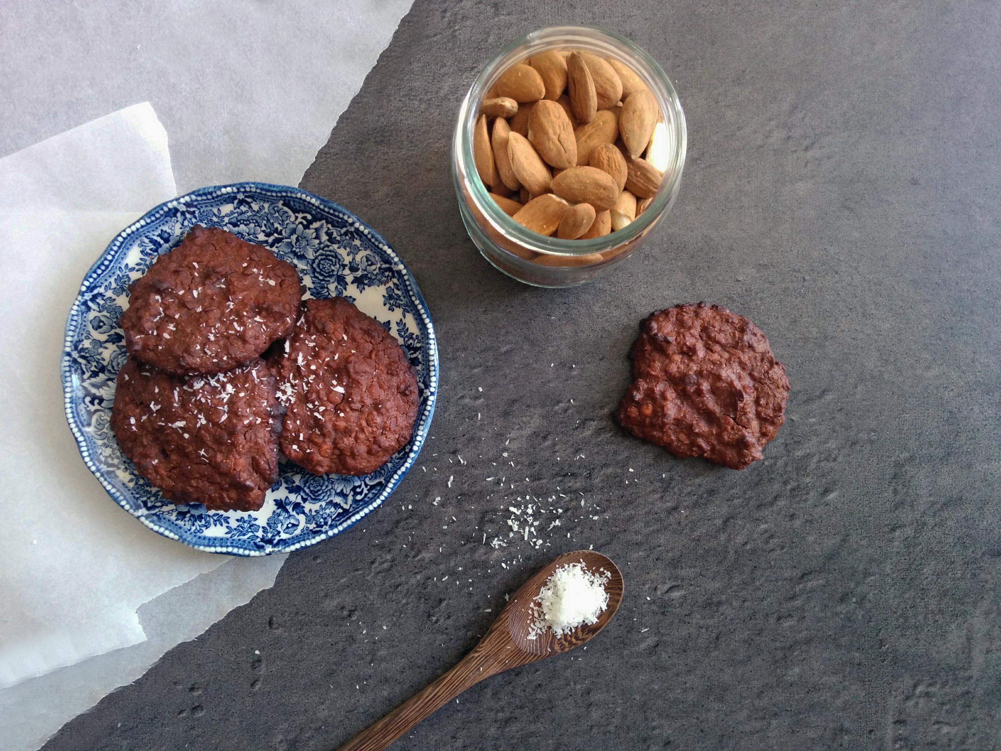 cookies au chocolat et légumineuses