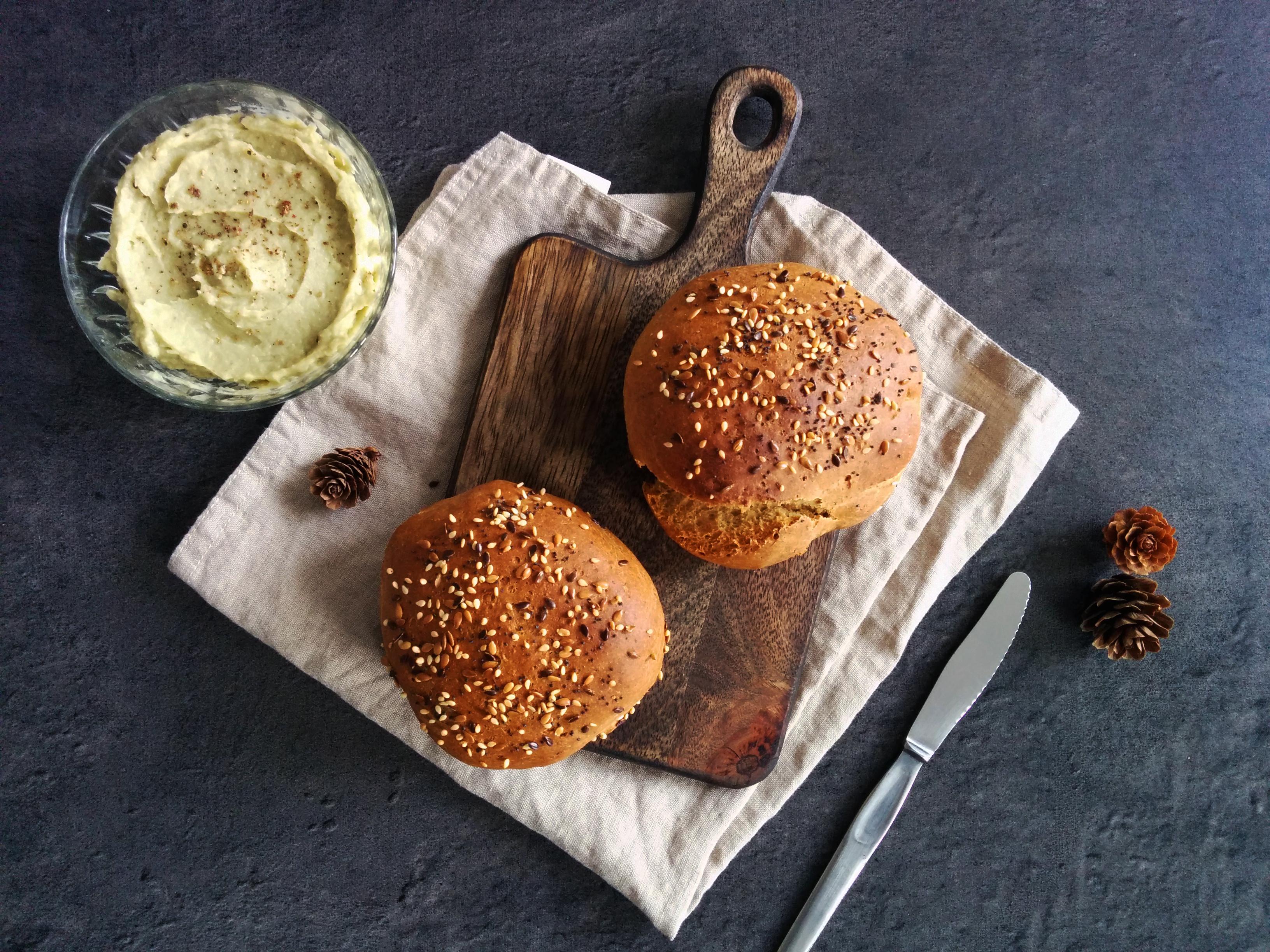 Pains burger IG bas et protéinés _ santé et gourmandise