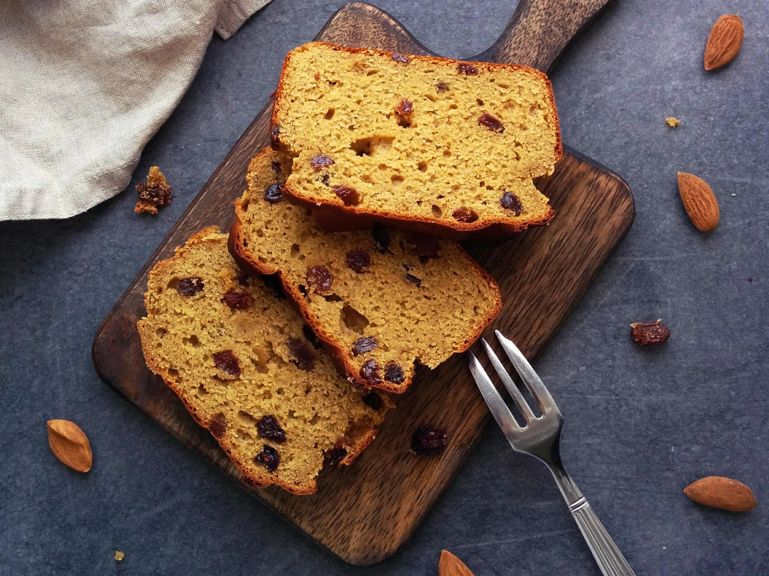 Cake citron cranberries IG bas _ santé et gourmandise