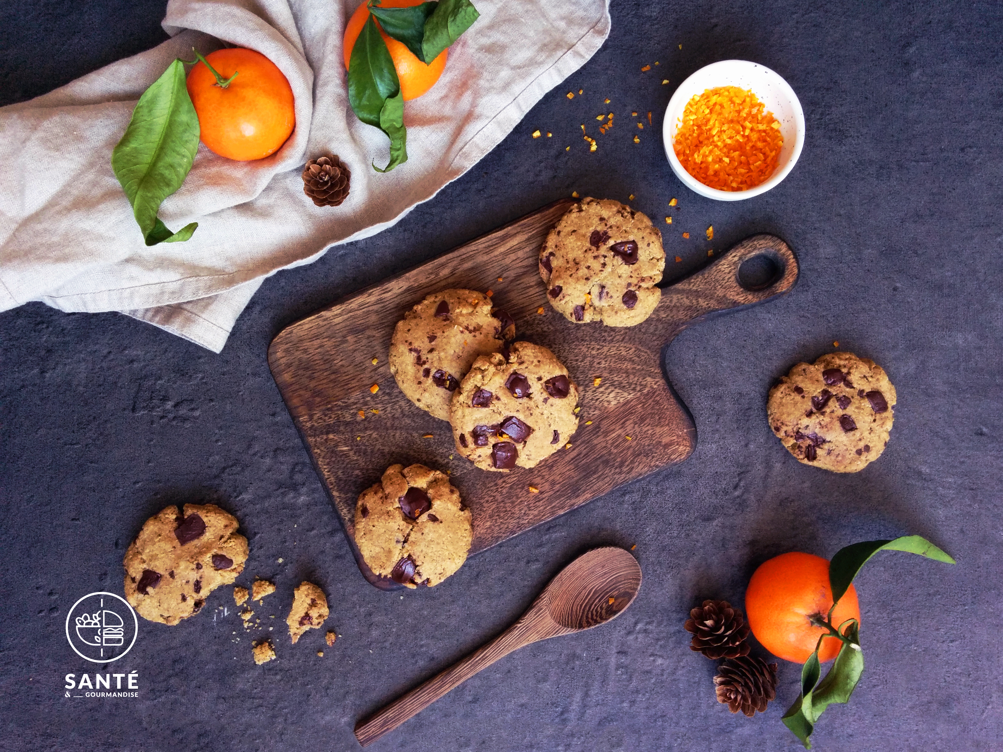 Cookies Ig bas orange et chocolat _ santé et gourmandise
