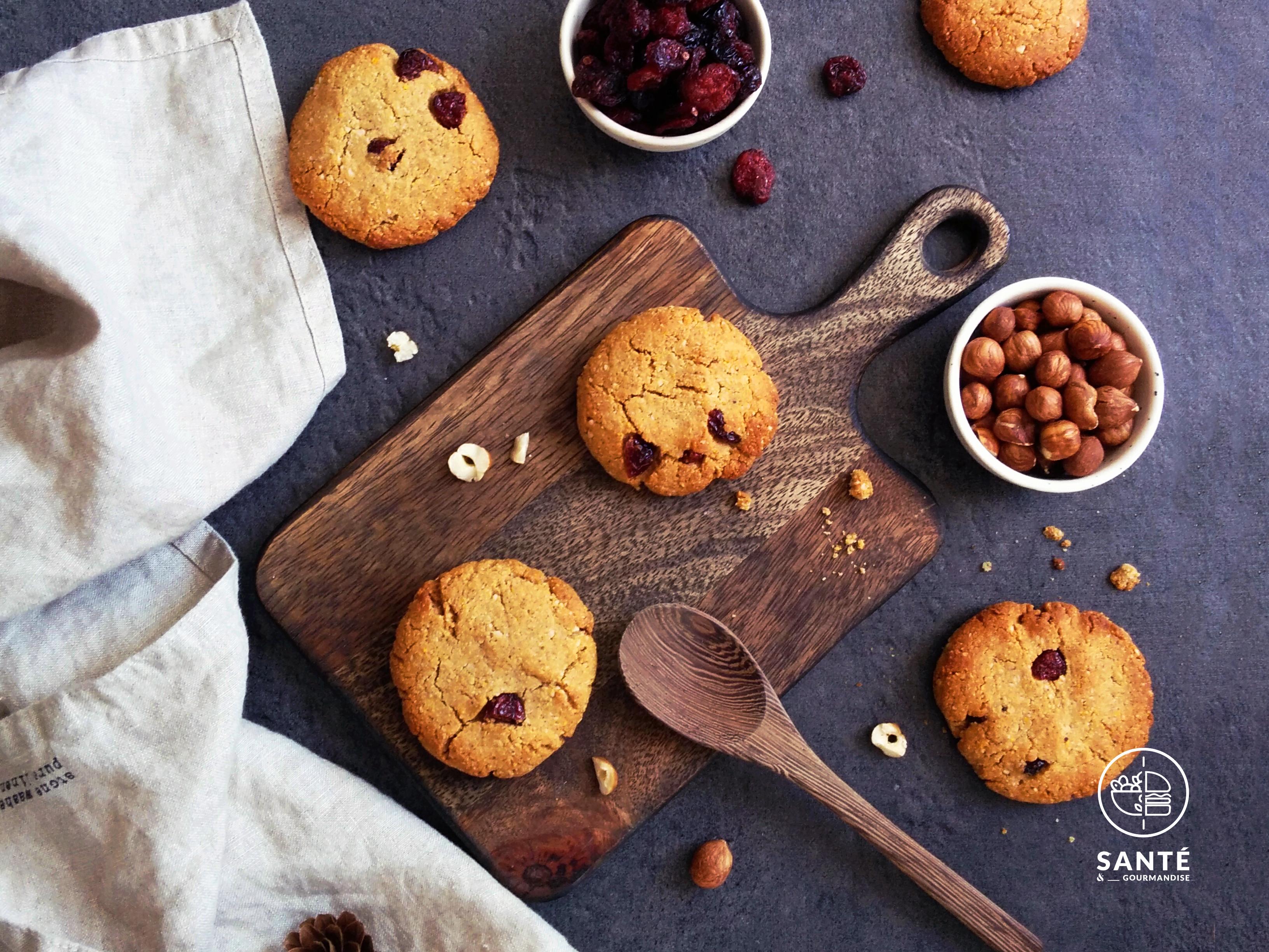 cookies noisette et cranberry IG bas _ santé et gourmandise