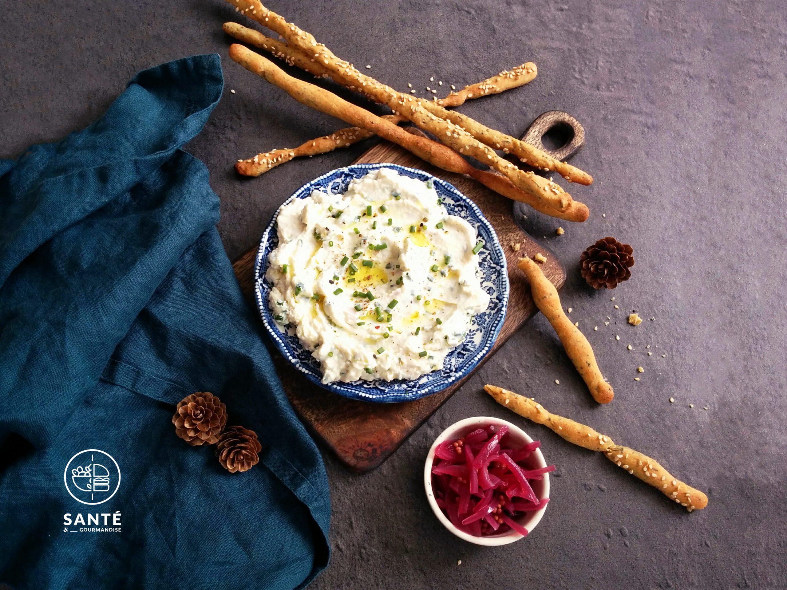 Cream cheese de soja aux herbes fraîches _ santé et gourmandise